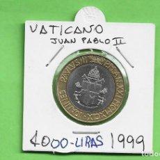 Monedas antiguas de Europa: VATICANO 1000 LIRAS 1999 JUAN PABLO II BIMETÁLICA KM#311. Lote 262492585