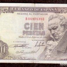 Monedas antiguas de Europa: BILLETE DE ESPAÑA 100 PESETAS GOYA EL QUE VES QUE VES. Lote 262605790