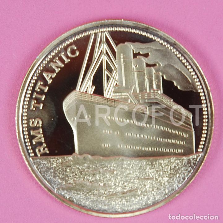 Monedas antiguas de Europa: MONEDA CONMEMORATIVA - RMS TITANIC - THE VOYAGE OF TITANIC - 40 mm. - 24 g. aprox. - LA DE LA FOTO - Foto 2 - 262648050