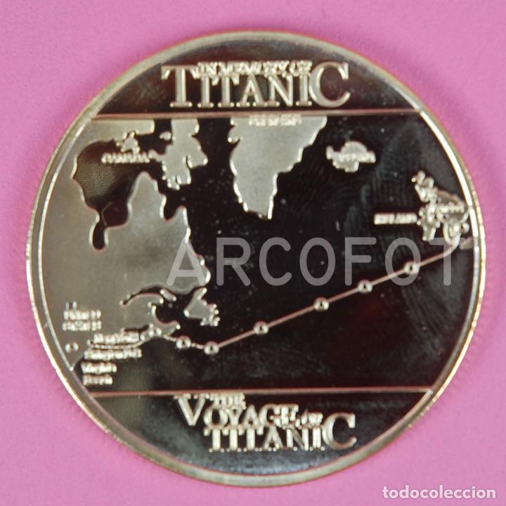 Monedas antiguas de Europa: MONEDA CONMEMORATIVA - RMS TITANIC - THE VOYAGE OF TITANIC - 40 mm. - 24 g. aprox. - LA DE LA FOTO - Foto 3 - 262648050