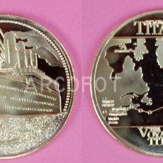 Monedas antiguas de Europa: MONEDA CONMEMORATIVA - RMS TITANIC - THE VOYAGE OF TITANIC - 40 MM. - 24 G. APROX. - LA DE LA FOTO. Lote 262648050