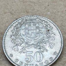 Monedas antiguas de Europa: MONEDA DE PLATA 50 CENTAVOS PORTUGAL 1964. Lote 262894290