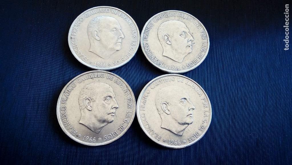 4 MONEDAS PLATA 100 PTS (Numismática - Extranjeras - Europa)
