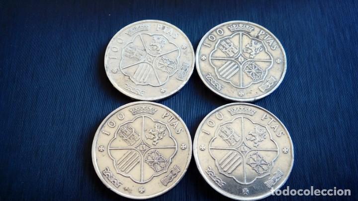 Monedas antiguas de Europa: 4 MONEDAS PLATA 100 PTS - Foto 2 - 263043115