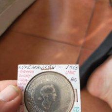 Monedas antiguas de Europa: MONEDA DE 250 DOSCIENTOS CINCUENTA FRANCOS 1963 PLATA SIN CIRCULAR LUXEMBURGO. Lote 263175180