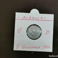 Monedas antiguas de Europa: ALBANIA 5 QINDARKA 1964 BC KM=39 (ALUMINIO). Lote 263177455