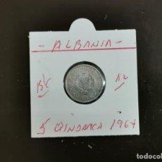 Monedas antiguas de Europa: ALBANIA 5 QINDARKA 1964 BC KM=39 (ALUMINIO). Lote 263177505