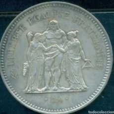 Monedas antiguas de Europa: FRANCIA 50 FRANCOS DE 1977 DE PLATA EXCELENTE ESTADO. Lote 263177540