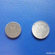 Monedas antiguas de Europa: 5 Y 10 PFENNIG. 1918 Y 1919. ALEMANIA. I GUERRA MUNDIAL. 2 MONEDAS. Lote 263179025