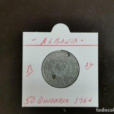 Monedas antiguas de Europa: ALBANIA 50 QINDARKA 1964 KM=42 (ALUMINIO). Lote 263179110