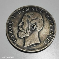 Monedas antiguas de Europa: RARA MONEDA PLATA 5 LEI 1881 RUMANÍA. Lote 263201265