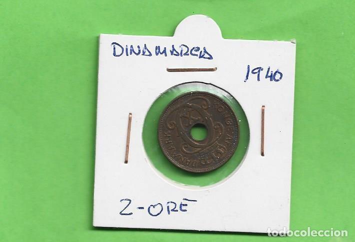 DINAMARCA 2 ORE 1940. BRONCE KM#827 (Numismática - Extranjeras - Europa)