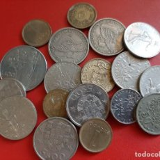 Monedas antiguas de Europa: MONEDAS DEL MUNDO. GRUPO DE 18 MONEDAS. Lote 264307128