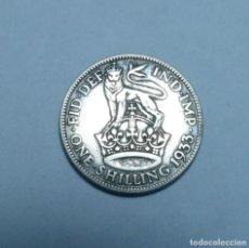 Monnaies anciennes de Europe: MONEDA DE PLATA DE 1 CHELIN DEL REY JORGE V DE GRAN BRETAÑA AÑO 1933. Lote 265939723