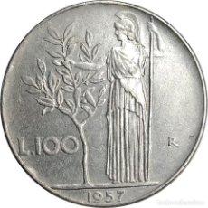 Monedas antiguas de Europa: ITALIA. 100 LIRAS DE 1957.. Lote 265979783