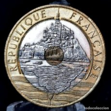 Monedas antiguas de Europa: ⚜️ B2227. CONMEM. 20 FRANCS 1992. VAR. 5 RAYAS EN CANTO, V CERRADA, DELFIN, ALIN. MONEDA. AC954. Lote 266163703