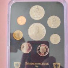 Monedas antiguas de Europa: DOS ESTUCHES LOTES MONEDAS SUIZA 1989. Lote 267771204