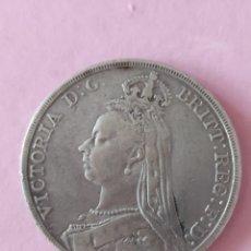 Monedas antiguas de Europa: 1 CORONA 1889 INGLATERRA REINA VICTORIA. Lote 267814279