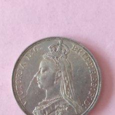 Monedas antiguas de Europa: 1 CORONA 1889 INGLATERRA REINA VICTORIA. Lote 267814949