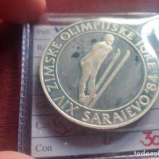 Monnaies anciennes de Europe: YUGOSLAVIA 500 DINARA 1983 PLATA. JJOO SARAJEVO. Lote 268157334