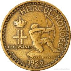 Moedas antigas da Europa: MONEDA, MÓNACO, LOUIS II, 2 FRANCS, 1926, POISSY, BC+, ALUMINIO - BRONCE. Lote 268258799