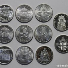 Monedas antiguas de Europa: COLECCIÓN DE MEDALLAS O MONEDAS PAPALES VATICANO ROMA. DISTINTOS AÑOS Y PAPAS. Lote 268288054