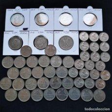 Monete antiche di Europa: ⚜️ A2230. MÁS DE 27€ AL CAMBIO!!! 53 PIEZAS DE 0,5, 1, 2 Y 5 DEUTSCHE MARK, CASI SIN REPET. 0,28KG. Lote 268390794