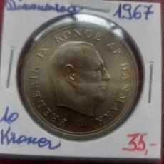 Monnaies anciennes de Europe: 10 CORONAS DE PLATA DE 1967. DINAMARCA. Lote 268456669
