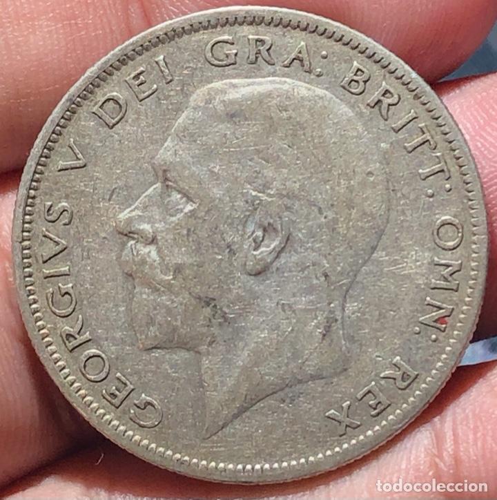 Monedas antiguas de Europa: Inglaterra KM835. 1/2 Crown 1928 Plata - Foto 2 - 268476264