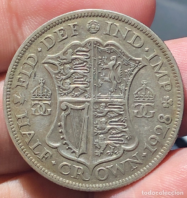 INGLATERRA KM835. 1/2 CROWN 1928 PLATA (Numismática - Extranjeras - Europa)
