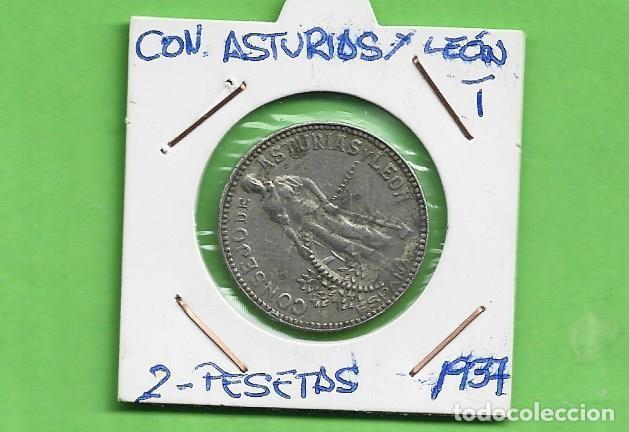 CONSEJO ASTURIAS Y LEÓN 2 PESETAS 1937. GUERRA CIVIL (Numismática - Extranjeras - Europa)