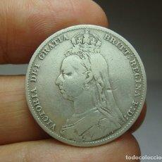 Monedas antiguas de Europa: 1 CHELÍN. PLATA. VICTORIA. GRAN BRETAÑA - 1900. Lote 268599579