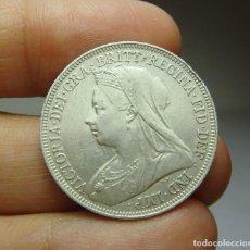 Monedas antiguas de Europa: 1 CHELÍN. PLATA. VICTORIA. GRAN BRETAÑA - 1894. Lote 268603459