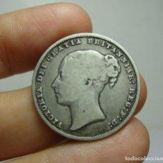 Monedas antiguas de Europa: 1 SHILLING. PLATA. VICTORIA. GRAN BRETAÑA - 1866. Lote 268605099