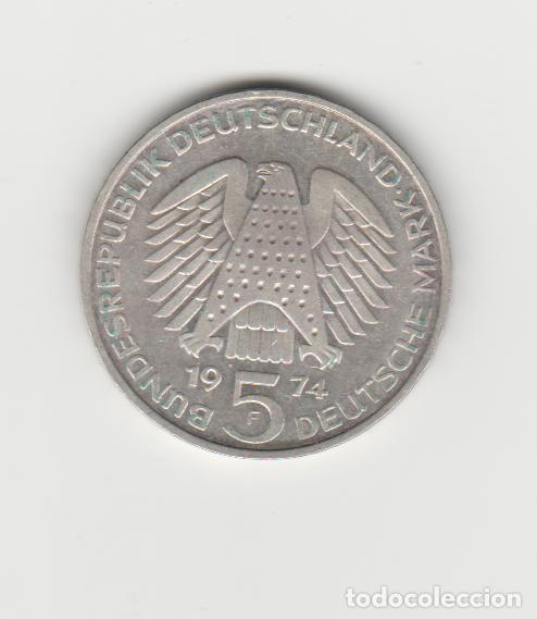 ALEMANIA- 5 MARCOS-1974-F (Numismática - Extranjeras - Europa)
