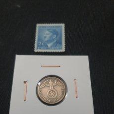 Monedas antiguas de Europa: ANTIGUA MONEDA NAZI ORIGINAL 1 PFENNIG LLL REICH 1938 ALEMANIA. Lote 268818639