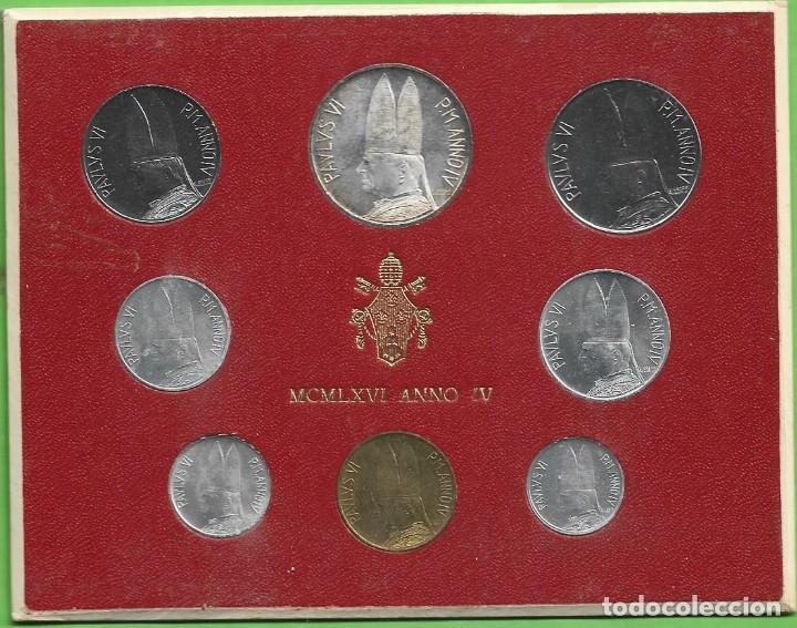 BLISTER VATICANO 1966. 8 MONEDAS INCLUIDA PLATA DE 500 LIRAS (Numismática - Extranjeras - Europa)