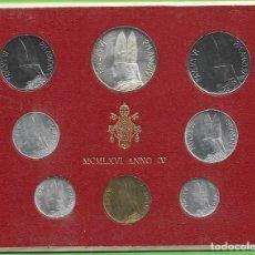 Monedas antiguas de Europa: BLISTER VATICANO 1966. 8 MONEDAS INCLUIDA PLATA DE 500 LIRAS. Lote 268986589
