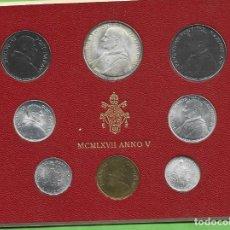 Monedas antiguas de Europa: BLISTER VATICANO 1967. 8 MONEDAS INCLUIDA PLATA DE 500 LIRAS. Lote 268988444