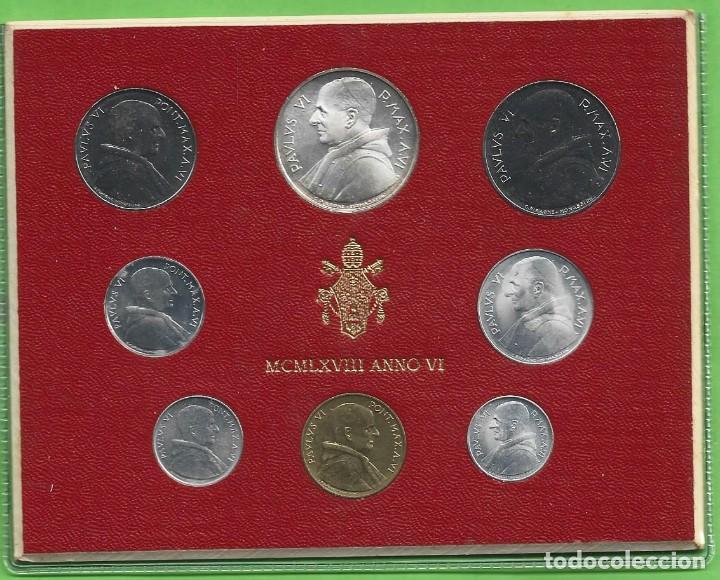 BLISTER VATICANO 1968. 8 MONEDAS INCLUIDA PLATA DE 500 LIRAS (Numismática - Extranjeras - Europa)