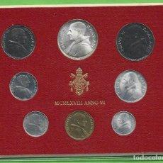 Monedas antiguas de Europa: BLISTER VATICANO 1968. 8 MONEDAS INCLUIDA PLATA DE 500 LIRAS. Lote 268990219