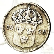Monete antiche di Europa: ⚜️ A2204. PLATA. 10 ORE 1928. SUECIA. Lote 269044963