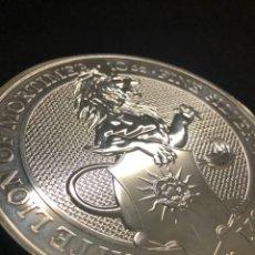 Monedas antiguas de Europa: MONEDA LINGOTE DE PLATA PURA- 10 ONZAS- LEÓN-GB-2021. Lote 269165358