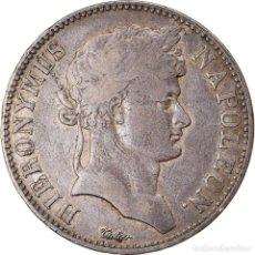 Monedas antiguas de Europa: [#882705] MONEDA, ESTADOS ALEMANES, WESTPHALIA, JEROME, 5 FRANKEN, 1809, CASSEL, BC+. Lote 269180273