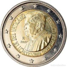 Monedas antiguas de Europa: [#767553] VATICANO, 2 EURO, 80ÈME ANNIVERSAIRE DE BENOIT XVI, 2007, FDC, BIMETÁLICO. Lote 269180393