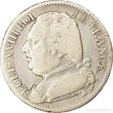 Monedas antiguas de Europa: [#863743] MONEDA, FRANCIA, LOUIS XVIII, LOUIS XVIII, 5 FRANCS, 1815, BAYONNE, BC+, PLATA. Lote 269180903