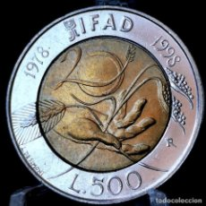 Monedas antiguas de Europa: ⚜️ CONMEMORATIVA. 500 LIRE 1998. ITALIA. AC952. Lote 269208108