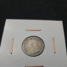 Monedas antiguas de Europa: ANTIGUA MONEDA.PLATA 3 PENIQUES REINA VICTORIA 1899. Lote 269303203