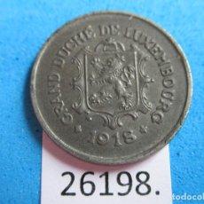 Monedas antiguas de Europa: LUXEMBURGO 5 CÉNTIMOS 1918, OCUPACIÓN ALEMANA 1 ª GM, METAL DE GUERRA. Lote 269318568
