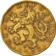 Monedas antiguas de Europa: [#747387] MONEDA, REPÚBLICA CHECA, 20 KORUN, 1997, BC+, LATÓN CHAPADO EN ACERO, KM:5. Lote 269585643